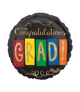 "28"" Jumbo Grad Gold Balloon"