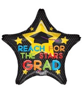 "28"" Jumbo Reach for the Stars Grad Balloon"