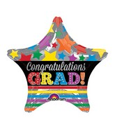 "9"" Airfill Only Congratulations Grad Stars & Stripes Balloon"