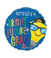 "18"" Got a Bright Future Grad Balloon Packaged"