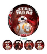 "16"" Orbz Jumbo Star Wars The Force Awakens Balloon Packaged"