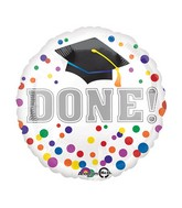 "18"" Grad DONE Balloon"