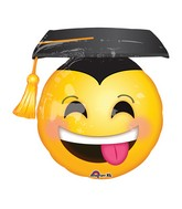 "26"" Jumbo Awesome Grad Face Balloon"