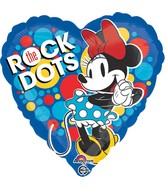 "18"" Minnie Rock the Dots Balloon Packaged"