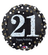 "18"" Sparkling Birthday 21 Balloon"