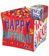 "21"" Jumbo Happy Words Happy Birthday Balloon Packaged"