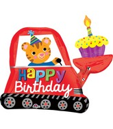 "31"" Jumbo Happy Birthday Digger Cupcake Balloon"