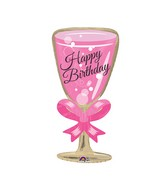 "29"" Happy Birthday Glass Balloon"