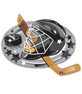 "30"" Jumbo Hockey Blast Balloon Packaged"