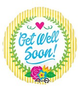 "18"" Get Well Soon Laurel Balloon Packaged"