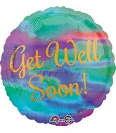 "18"" Painterly Get Well Soon Balloon Packaged"