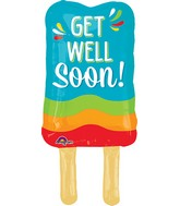 "26"" Jumbo Get Well Popsicle Balloon Packaged"