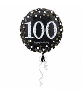 "18"" Sparkling Birthday 100 Balloon"