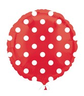 "18"" Apple Red Dots Balloon Packaged"