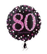 "18"" Pink Celebration 80 Balloon"