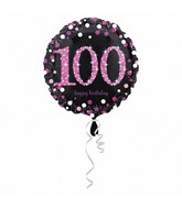 "18"" Pink Celebration 100 Balloon"