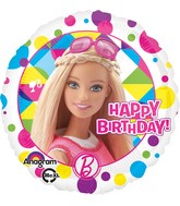 "18"" Barbie Sparkle Happy Birthday Balloon Packaged"