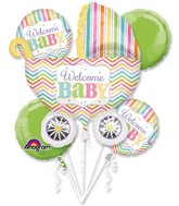 Bouquet Baby Brights Balloon Packaged