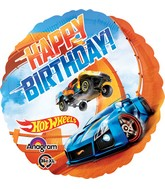 "18"" Hot Wheels Happy Birthday Balloon"
