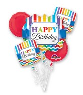 Bouquet Bright Birthday Balloon Packaged