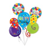 Bouquet Birthday Balloon Bash Balloon Packaged