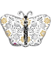 Wedding Congratulations Butterfly Balloon