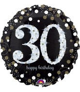 "18"" Sparkling Birthday 30 Balloon"