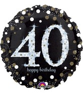 "18"" Sparkling Birthday 40 Balloon"