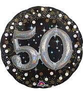 Deluxe Balloon Sparkling Birthday 50 Balloon Packaged