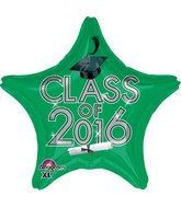 "18"" Class of 2016 - Green Balloon"