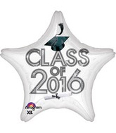 "18"" Class of 2016 - White Balloon"