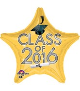 "18"" Class of 2016 - Gold Balloon"