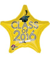 "18"" Class of 2016 - Yellow Balloon"