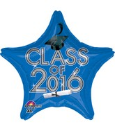 "18"" Class of 2016 - Blue Balloon"