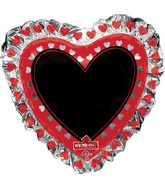 "28"" Jumbo Heart Blackboard Balloon Packaged"