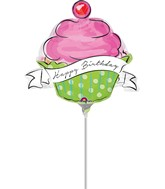 "13"" Airfill Only Birthday Sweets Cupcake Balloon"