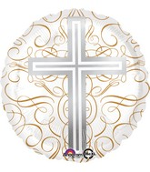 "18"" Elegant Cross Balloon Packaged"