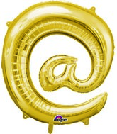 "Airfill Only Symbol "" @ "" Gold Balloon Packaged"