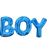 "20"" Airfill Only Phrase "" BOY"" BLUE Balloon Packaged"