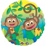 "18"" Happy Monkey Fun Foil Balloon"