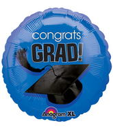 "18"" Congrats Grad Balloon Royal Blue"