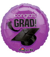 "18"" Congrats Grad Balloon Purple"