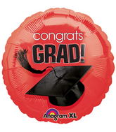 "18"" Congrats Grad Balloon Red"