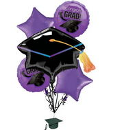 Graduation Bouquet School Colors Purple