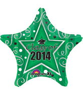 "18"" Class of 2014 Balloon Green"