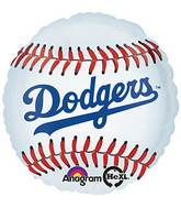 "18"" MLB Los Angeles Dodgers Baseball Balloon"