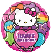 "18"" Hello Kitty Rainbow Happy Birthday"