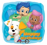 "18"" Bubble Guppies Birthday Mylar Balloon"