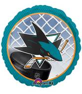 "18"" NHL San Jose Sharks Mylar Balloon"