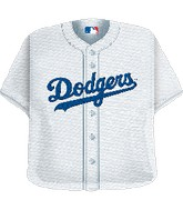 "24"" MLB Los Angeles Dodgers Jersey Balloon"